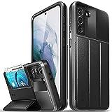 Vena vCommute Funda Cartera para Samsung Galaxy S21 Plus (6.7-Inch), (Military Grade, Ranuras para Tarjetas) Carcasa de Cuero Case con Función de Soporte - Gris