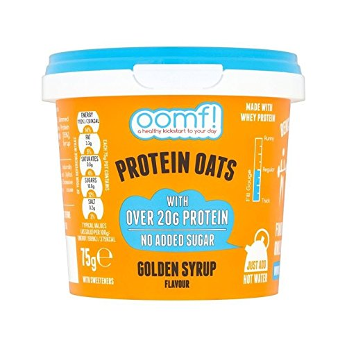 OOMF! Bench Pressed Oats, Golden Syrup 75g - Pack of 6