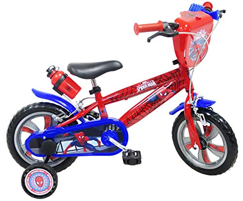 Disney VELO 12' GARCON LICENCE SPIDERMAN-2 FREINS Vélo enfants, Multicolore, 12''