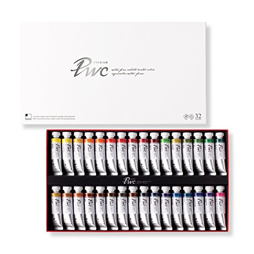 PWC SHINHAN Extra Fine Watercolor Paint 15ml Tubes 32 Color Set