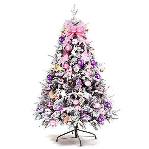 DRGE 47 Pulgadas Flocado Paquete de áRbol de Nieve de Navidad DecoracióN de Escena de Vacaciones Accesorios DecoracióN Interior y Exterior