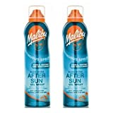 Malibu 2 Aerosol Continuous Aftersun Gel Spray With Aloe Vera. Pack Contains 2 Bottles - 175Ml Each by Malibu