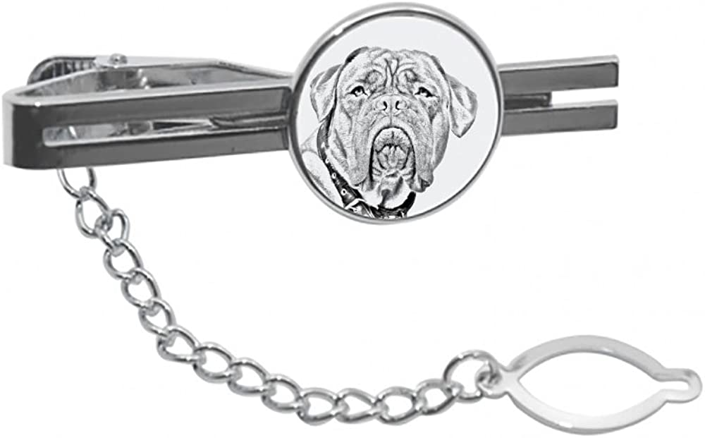 excellence Dogue de Bordeaux tie pin Clip with an Time sale Image a of Dog Elegant