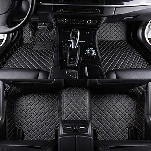 Byrhgood Alfombrillas de Coches Personalizadas para Mercedes W212 Todos los Modelos W204 W205 CLA W245 GLK GLA GLA GL X164 MATS DE Cuero DE Cuero DE Vito Accesorios (Color : All Black)