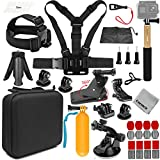 Gurmoir 15in1 Full Action Camera Accessories Outdoor Climbing Hiking Action Camera Kit for Gopro Hero 9 Black/MAX/Hero 8/7/6/5/AKASO/DJI Osmo Action/SJCAM/APEMAN and More Action Cameras(AT03)