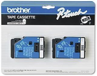 "2/Pack 3/8"" (9mm) White on Black P-Touch TC Tape for Brother PT-20, PT20 Label Maker"