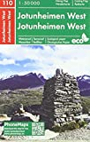Jotunheimen West, Wander - Radkarte 1 : 50 000 (PhoneMaps Wander - Radkarte Norwegen)