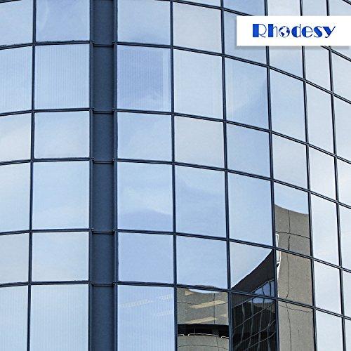 【ロデシー】Rhodesy窓用ガラスフィルム窓断熱シート目隠しシートガラスフィルムガラス破片飛散防止ガラス用窓用マジックミラー防寒UVカットシート遮光遮熱水で貼り付け(シルバー,90cm×200cm)