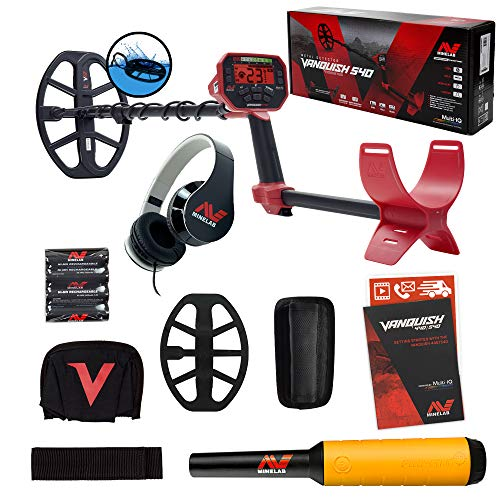Minelab Vanquish 540 Detector with 12 x 9 Coil and Pro-Find 20 Pinpointer