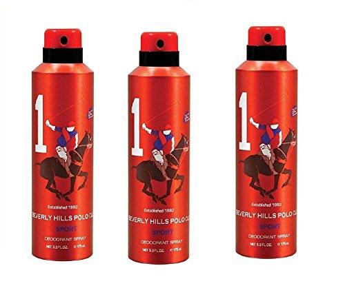 Beverly Hills Polo Club 1 Parfum Pour homme en flacon vaporisateur, 150 ml (lot de 3)
