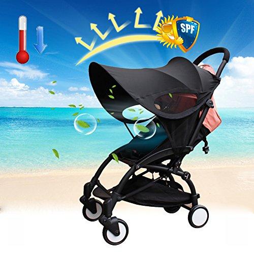 Universel Poussette Pare-soleil Coque bébé complète Canopy Moustiquaire facile à installer