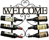 AMAFS Estante para Vino Estante para Vino de Metal Estante para Vino de Pared de Hierro Forjado Creativo Estante para Botellas de Vino montado en la Pared para Sala de Estar ZSMMFDB Beautiful Home