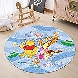 Rugs Carpet Living Room Floor Mats Cartoon Pooh And Friends Pattern Children'S Bedroom Decoration Non-Slip Floor Mats Wild Round Carpet