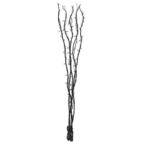 Stunning 1.2m Decorative Black Wooden Twig Branch Fairy Lights Floor Lamp