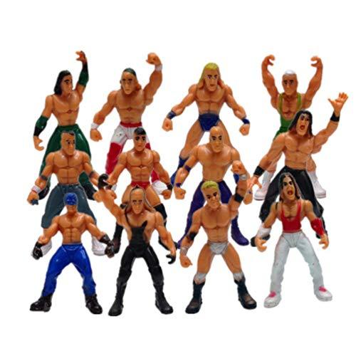 TOYANDONA 1 Pc Juego de Lucha Libre Simulación Realista Luchador Guerreros Juguetes WWE Luchador Figuras Juguetes para Niños Niños Niños