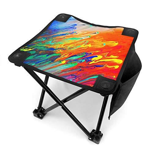 Nicokee Campingstuhl Klappstühle, bunt, abstraktes Glas-Acryl-Gemälde-Design, tragbarer Stuhl mit Tragetasche für Outdoor-Angeln, Sport, Wandern, Garten, Picknick, Strand, BBQ