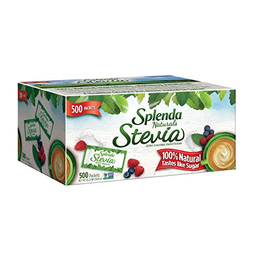 SPLENDA Naturals No Calorie Stevia Sweetener, Single-Serve Packets (500 Count)