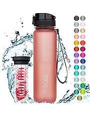 """720°DGREE Trinkflasche """"uberBottle"""" +Früchtebehälter - 1L - BPA-Frei - Wasserflasche für Sport, Fitness, Uni, Fahrrad, Outdoor - Sportflasche aus Tritan - Leicht, Nachhaltig"""