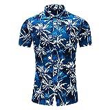 Playa Shirt Hombre Moderna Urbana Moda Cárdigan Corte Ajustado Hombre Shirt Verano Básico Estampado Estilo Hawaiano Hombre Manga Corta Casual Vacaciones Hombre Camisa