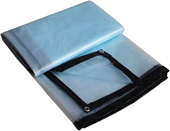 YAN FEI Bache Imperméable Lourde épaissir Transparent Tissu en Plastique Fenêtre Fenêtre Balcon Fleurs Isolation Antigel Anti-vieillissement en Plastique 3x6 M (Taille   2x8M)