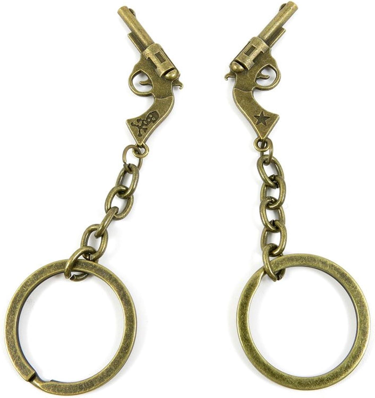 80 PCS Keyring Car Door Key Ring Tag Chain Keychain Wholesale Suppliers Charms Handmade D6SB2 Pirate Gun Pistol
