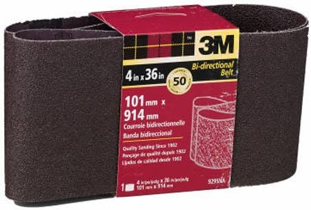 3M Heavy Duty Power outlet Sanding Belts 4-in Grit by Coarse 1 36-in A surprise price is realized