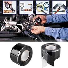 indiashop rubberized waterproof flex instantly stops leaks sealer tape (4 inch x 5 feet, black) (flex tape)