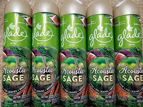 5 Glade Acoustic Sage LIMITED EDITION 8oz Air Freshener Spray Brand New