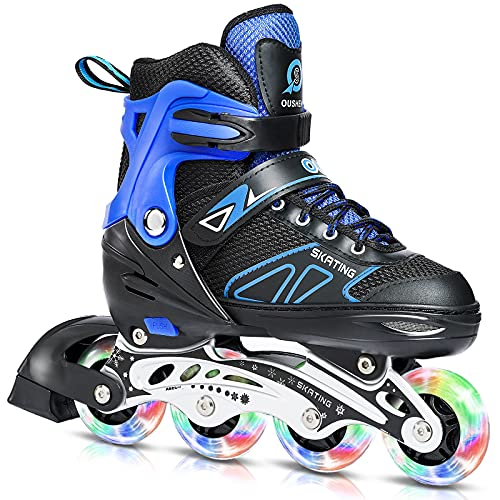Rollerblades with light up wheels