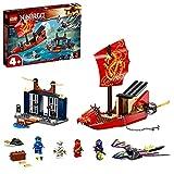 LEGO 71749 Ninjago Vuelo Final del Barco de Asalto Ninja, Set de Construcción con Dragón de Juguete para Niños 4 Años
