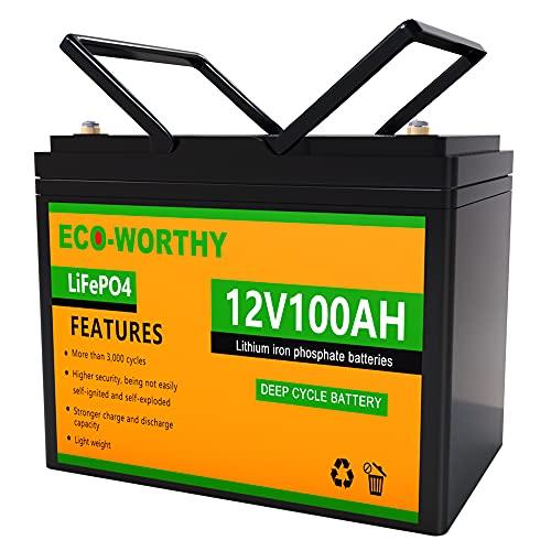 ECO-WORTHY 12V 100Ah Lithium Battery