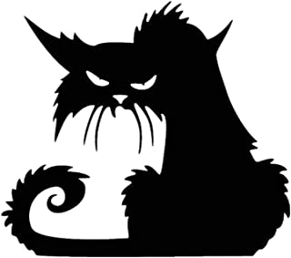 Bigood Halloween Accessoire Chat Noir Autocollant Créatif Mural Fenêtre 42 * 37cm