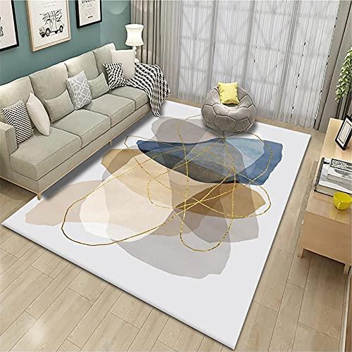 alfombras Baratas,Alfombra Azul, cómoda Alfombra Moderna antiestática cálida ,alfombras de Pasillo -Azul_140x200cm