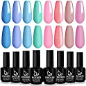 8-Pack HOCRES Gel Nail Polish Set (Beach Party Collection)