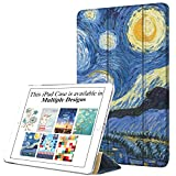 DuraSafe Case for iPad Air 1 Gen 2013-9.7 Inch [ A1474 A1475 ] Printed Smart Cover with Translucent Back, Auto Sleep/Wake -Starry Night (Trifold)