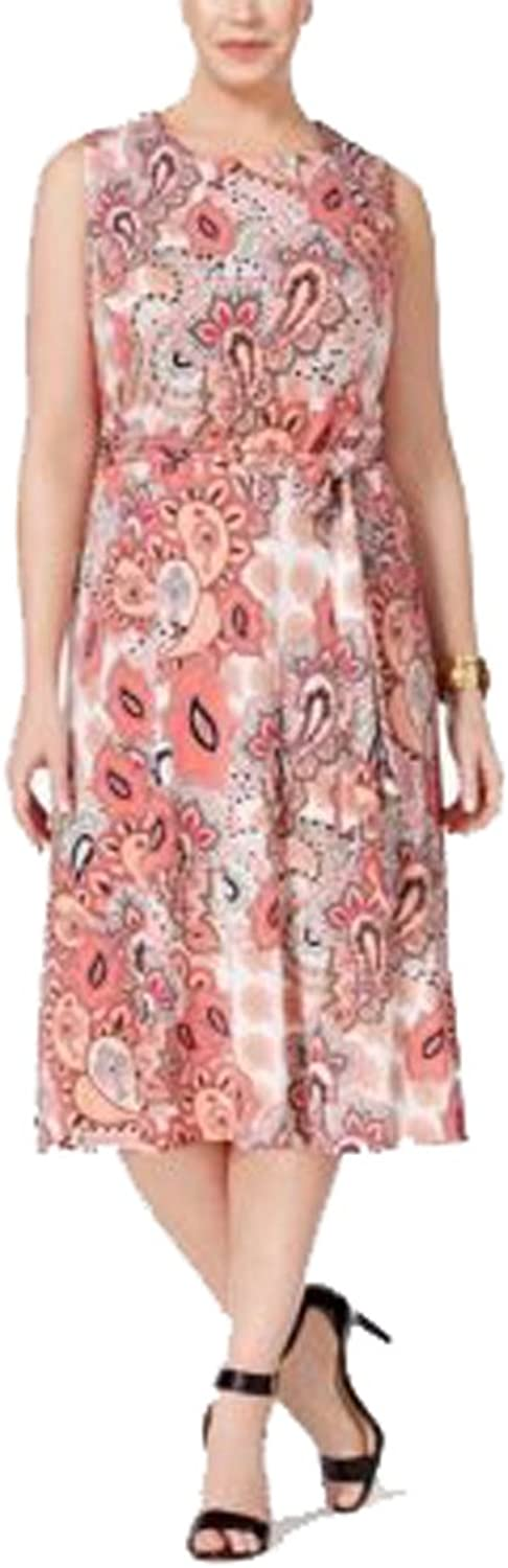 Charter Club Womens Paisley Fit & Flare Dress