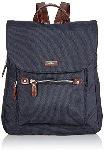 TOM TAILOR Rucksack Damen RINA, (blau 50), 28x33x12 cm, TOM TAILOR Rucksackhandtasche, Damenrucksack, Handtasche