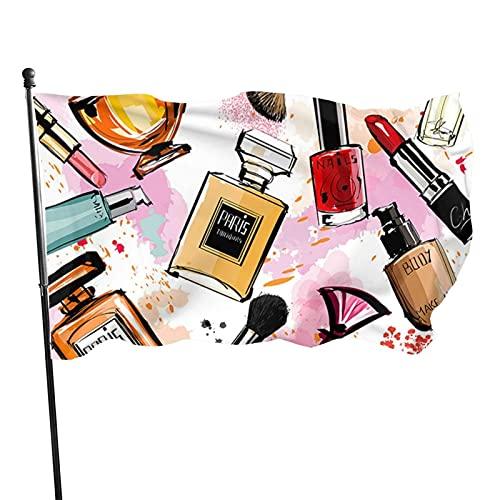 985 Bandera De Jardín,Cosmetic Makeup Pattern Perfume,Banderas Decorativas Estacionales 3X5Ft Premium Bandera De Brisa Bandera Militar para Balcón Patio Estreno De Una Casa