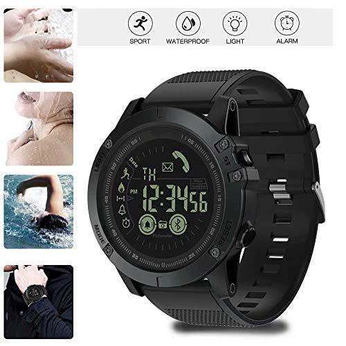 Kqiang T1 Tact -Military Grade Super Tough Smart Watch Outdoor Sports Talking Watch, Men's Digital Waterproof Tactical Watch with Luminous Dial for Men
