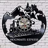 jukunlun Hogwarts Express Wanduhr Modernes Design Wohnzimmer Dekoration Vinyl Lp Rekorduhr Uhr Wanduhr Dekoration Stille