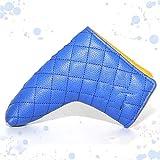 SXCXBH Fundas Hierros Golf Cubierta de Putter Cubierta en Forma de lámina Azul PU de PU de Golf Putter Cubierta Cubierta de protección de Clubes Personalizado (Color : Blue)