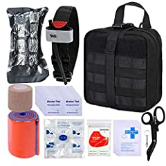 ★MILITARY MEDICAL KIT★ Sturdy 1000D Nylon with waterproof lining;thickened stainless steel scissors with fluoride-coated non-stick surface; Israeli battle dressing (IBD),Hemorrhage control compression bandage, quick and easy self-application ★COMPACT...