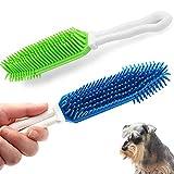 IHUIXINHE 2 Piezas de Cepillo de Silicona para Quitar el Pelo de Mascotas, Mantas de Cama para Automóviles, Alfombras, Masaje de Goma para Mascotas y Removedor de Pelo de Perros y Gatos
