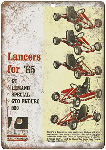 Lancers RUPP Blechschild Retro Warnschild Vintage Metall Poster Plakette Eisen Malerei Kunst Dekor für Home Cafe Garden Pub Büro 30x20 cm