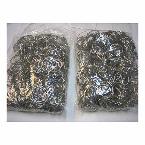 "Lot 1000 pc 1"" Bulk Split Rings/Locksmith Give Away Keyrings / 1.1mm x 28mm/New Buyer's Choice"
