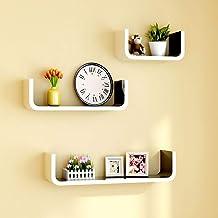 Living Room Wall Opknoping Storage Shelf Rack Muur Partition Boekenkast Creative TV achtergrond wanddecoratie Frame (Color...
