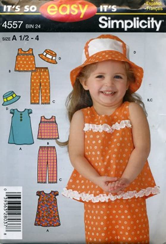 Simplicity It's so Easy Toddler's Dress, Top, Pants and Hat Pattern