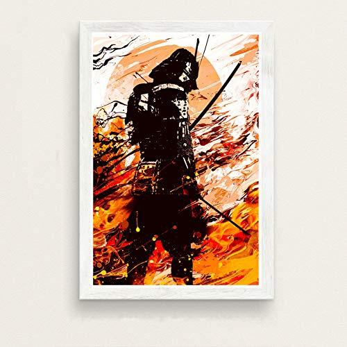 zxddzl Japanische Kunst malerei Seide leinwand Poster Wand Dekoration 28 30 * 42