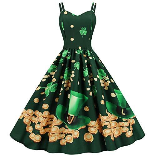 aihihe Womens 1950s Vintage Retro Party Dresses Sleeveless Elegant Printed...
