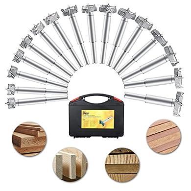 Foto di Baban 16PCS punta da trapano/sega a tazza Forstner Drill Bit Set lavorazione del legno foro ha veduto Forstner Set con scatola 15-35mm